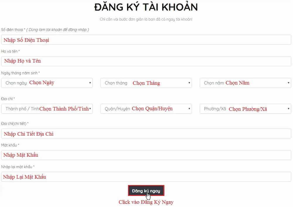 Huong Dan Dang Ky Tai Khoan 2